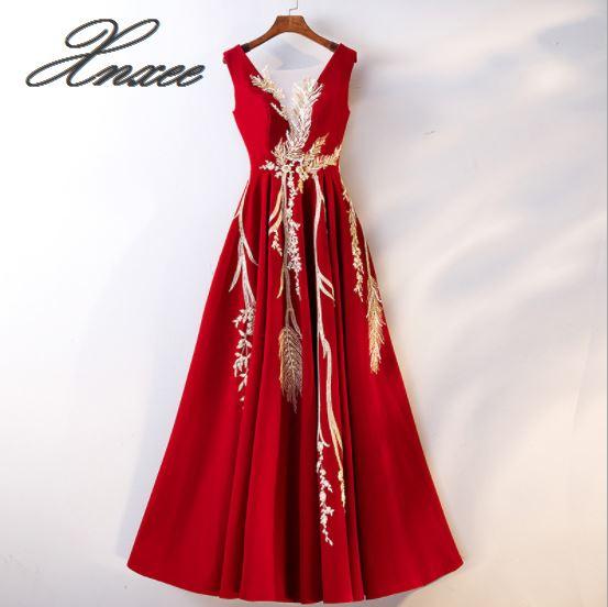 2019 summer new red party dress banquet slim dress