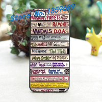 Mixed Tape Cassette Retro Old School Music 4 Fashion Cover Case For Iphone 4 4S 5