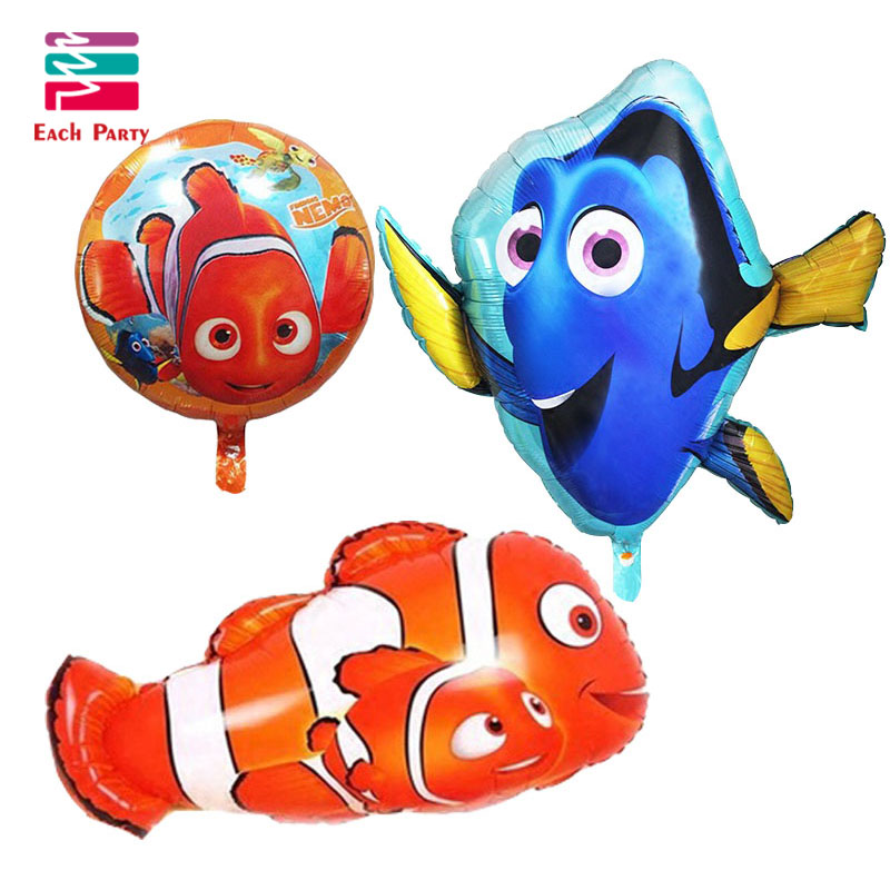 3pcs/lot Nemo dolly fish foil balloons children classic toys Inflatable helium b