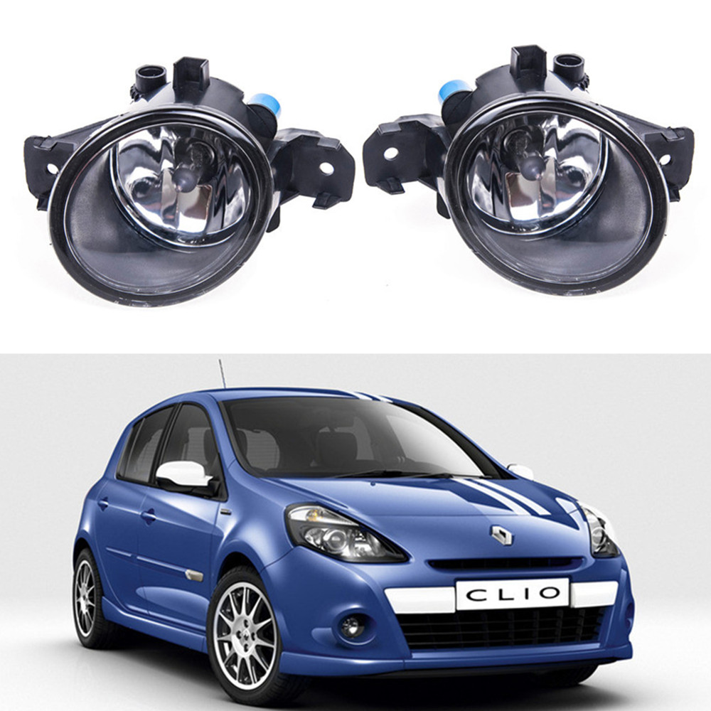 For Renault CLIO 2005-2015  Car styling Fog Lamps 55W halogen Lights 1SET бампер передний на renault clio 2001