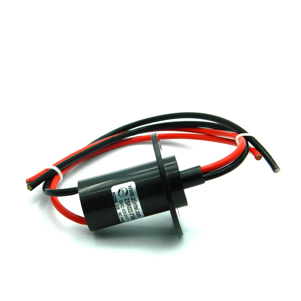 ZSR022 2R30A Large Current 30A 2 Channel Slip Ring 22mm Out Diameter Capsule Slip Rings High