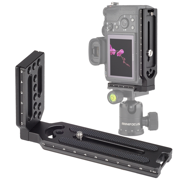 Universal Quick Release L Plate Bracket 1/4 Screw for sony a7iii II A9 A6400 for nikon z7 D750 for Canon 5D Eos R DSLR Camera