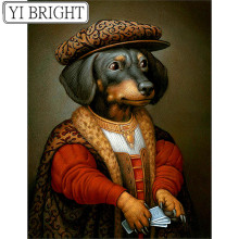 large diy diamond painting,diamond painting full square new arrival,diy,diamond embroidery Dog gentleman LK1