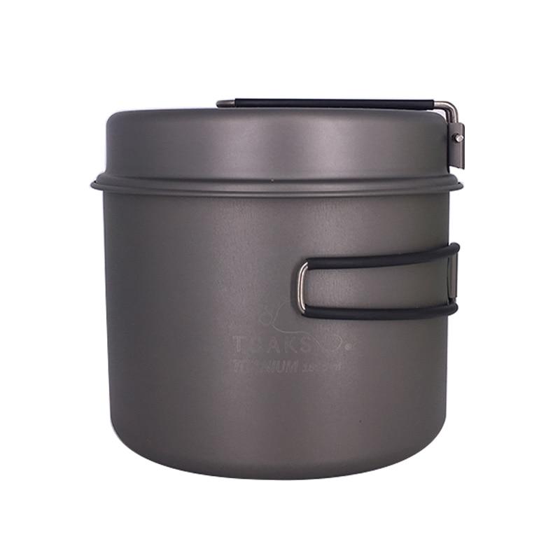 TOAKS 1600ml Cookware Set Ultralight Titanium Pot Frying Pan Outdoor Camping Titanium Bowl Titanium Cup Picnic