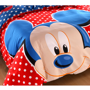 Image 3 - Disney Blue Mickey Mouse Duvet Cover Set 3 or 4 Pieces Double Single Size Bedding Set for Children Birthday Gift Bedroom Decor
