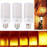 E27 E14 E12 E26 LED Flame Effect Fire Light Bulbs B22 Bayone 5W Three Modes Safe