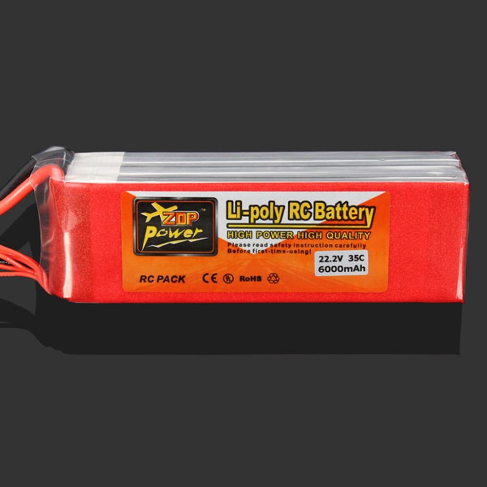 1 pcs ZOP Puissance 22.2 V 6000 MAH 35C 6 S Rechargeable Lipo Batterie XT60 Plug