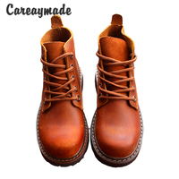 New 2016 Autumn Genuine Leather Shoes Pure Handmade Ankle Boot The Retro Art Mori Girl Shoes