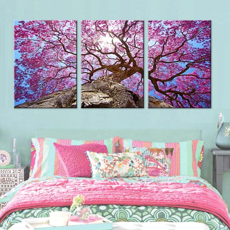 Nordic Beautiful Cherry Trees Oil Oil Painting Նկար - Տնային դեկոր - Լուսանկար 3