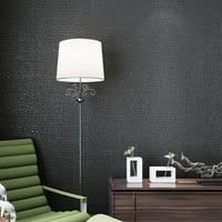 Modern Simple Imitation Linen Plain Non Woven Wallpaper For Walls 3 D Wall Paper Flocking Non
