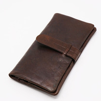 Brand New Genuine Leather Wallet Men S Clutch Wallets Long Bifold Currency Dollar Coin Purse Credit
