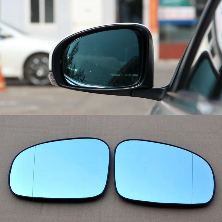 Ipoboo 2pcs New Power Heated w/Turn Signal Side View Mirror Blue Glasses For Toyota Reiz wish cafoucs led rearview side mirror turn signal lights mirror lamp for toyota prius reiz wish mark x crown avalon