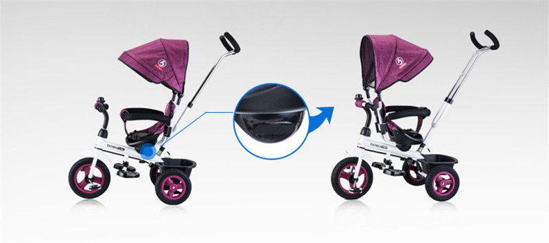 Hot Sell Seat 360 Degrees Rotated Baby Push Baby Stroller Multicolor Child Bike Commutatable Handle Kids Tricycle Free Drop Ship11