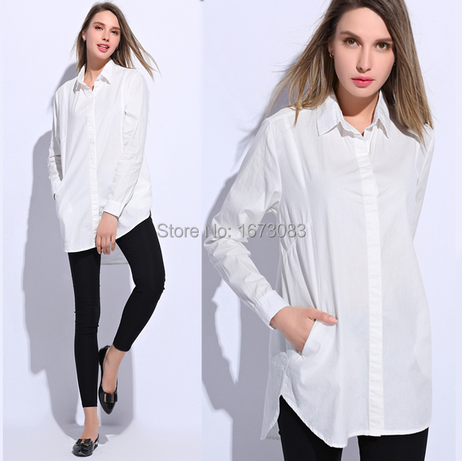 Aliexpress.com : Buy Fashion Boyfriend cotton Long shirts Tops ...
