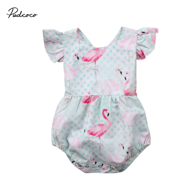 Helen115 Lovely Infant Baby Girl Clothes Cotton Short Sleeve