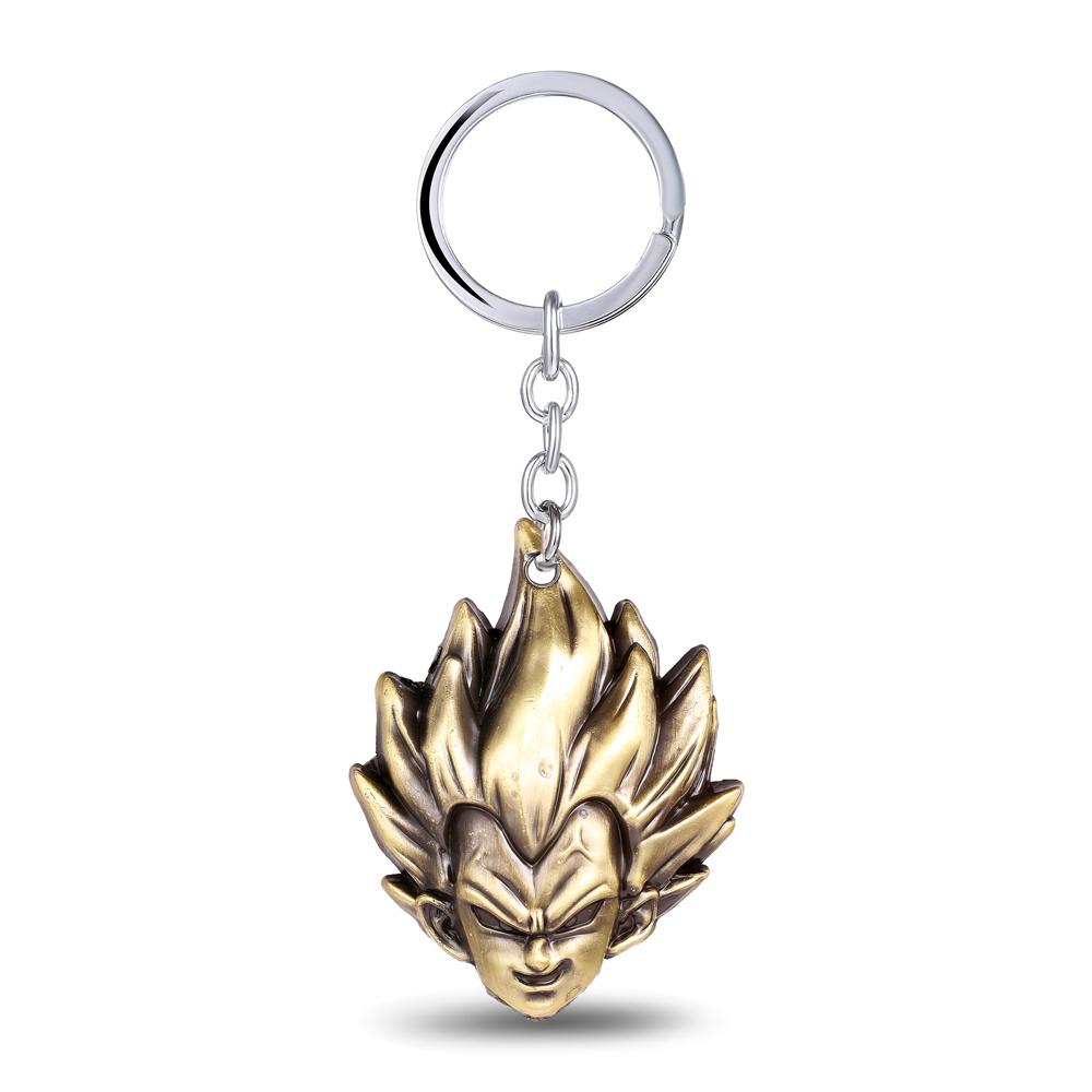 MS JEWELS Anime Cartoon Gifts Jewelry Dragon Ball Vegeta Keychain Metal Key Rings Chaveiro Key Chain