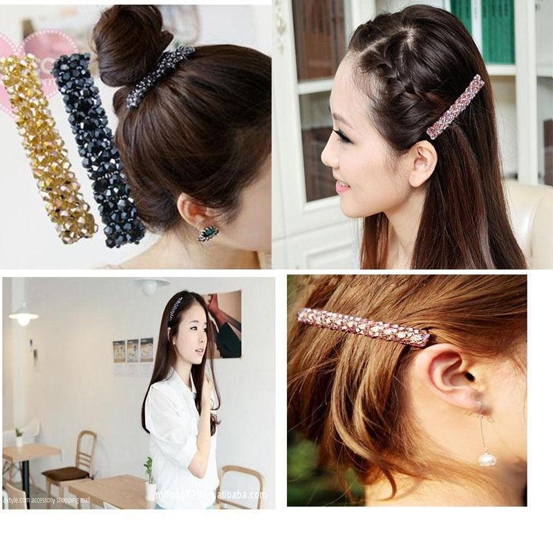 HTB1ZVRDJFXXXXb7XVXXq6xXFXXX4 Women's Sparkling Rhinestone Crystal Beads Hair Clip Barrette - 6 Colors
