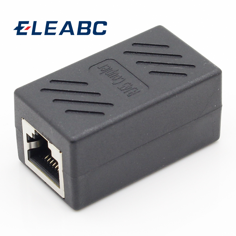 цена на 1pcs Colorful Female to Female Network LAN Connector Adapter Coupler Extender RJ45 Ethernet Cable Extension Converter
