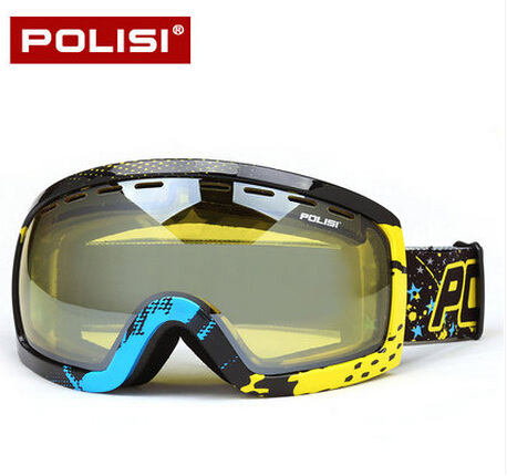 POLISI Winter SKi Snow Goggles Double Layer Yellow Lens Skiing Skate Glasses 100% UV Protection Anti-Fog Snowboard Eyewear раннее развитие эксмо книжка занимательно о животных кошки с герцогиней