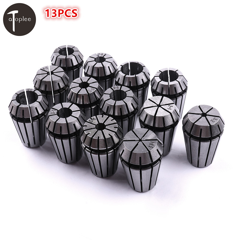 Atoplee 13PCS ER20 Precision Spring Collet Set 1-13mm CNC Collet Chuck For Milling Lathe Tools & Spindle Motors