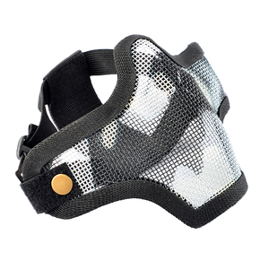 Image 1 - Airsoft Paintball Cool Adjustable Face Mask Outdoor Soft Bullet Safety Tactical Mask for WarGame Shooting Protective Mask 2019