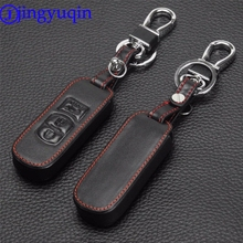 jingyuqin Remote 3 Buttons Genuine Leather Car Key Bag Holder Case Cover protector For Mazda 6/3 2014 2015 Cx-5 Cx-7 Cx-9