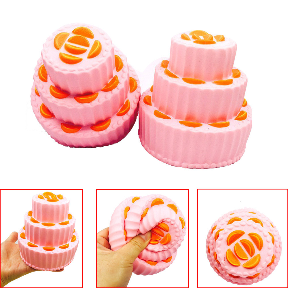 Simulation Multi-layer Cake Squeeze Toy Squishy Slow Rising Cream Scented Decompression Stress Relief Toys Kawaii Stationery A1