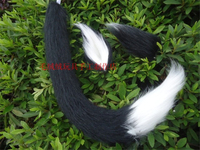 cat tail sexy animal tail Halloween party anime cosplay accessories free shipping style able black white mix tail + ear