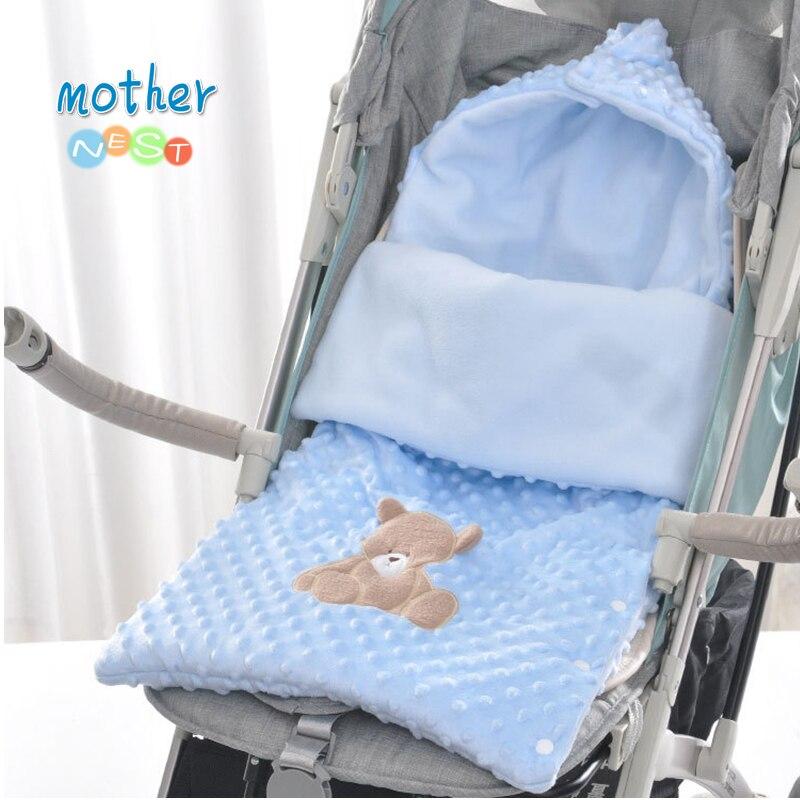 2018 Winter Sleeping Bags Baby Envelope For Stroller Newborn Baby Wrap Swaddle Infant Winter Envelonp Kids Baby Sleepsacks 0-12M