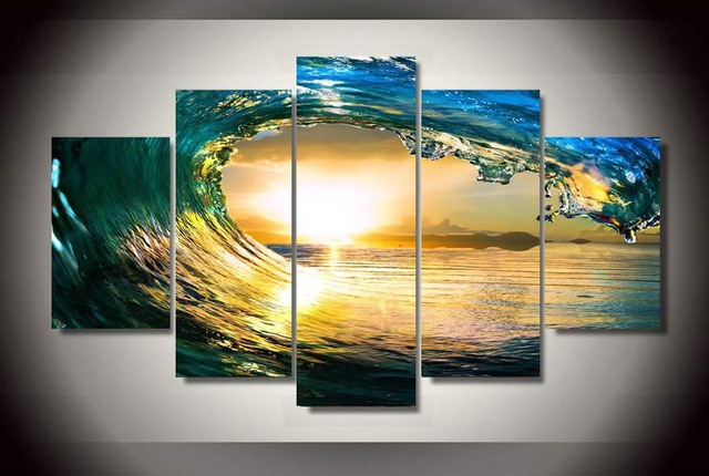 5 pieces/sets Canvas HD Tropical Paradise Ocean Sea Canvas Painting ...
