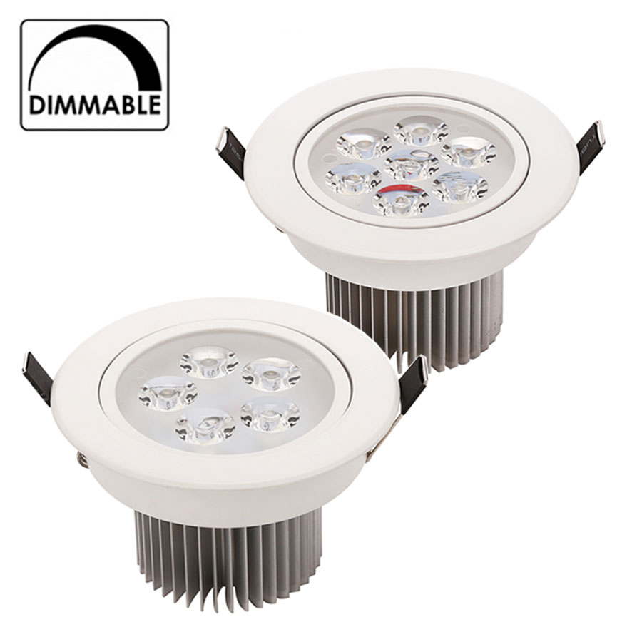 LED Downlight Dimmable 15W 21W items White shell lights for home Bathroom living room kitchen lighting