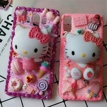 Nuevo para iphone 8/ 7 plus DIY caso 3D KT gato cubierta del teléfono para iphone 7 /6 6s más hecho a mano candy caso regalo para iphone X