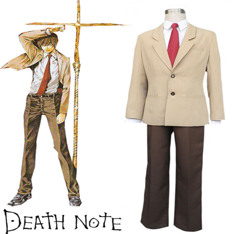 Takerlama Death Note Yagami Light Suit School Uniform Anime Cosplay Costume Japanese School Uniform Casual Men Cosplay Suit