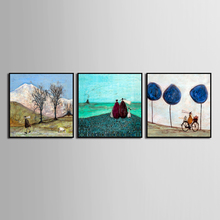 Fashion 3 Pieces Classic abstract modern village Canvas Wall Art Home Decoration Pictures Panels For Living Room  (No Framed)