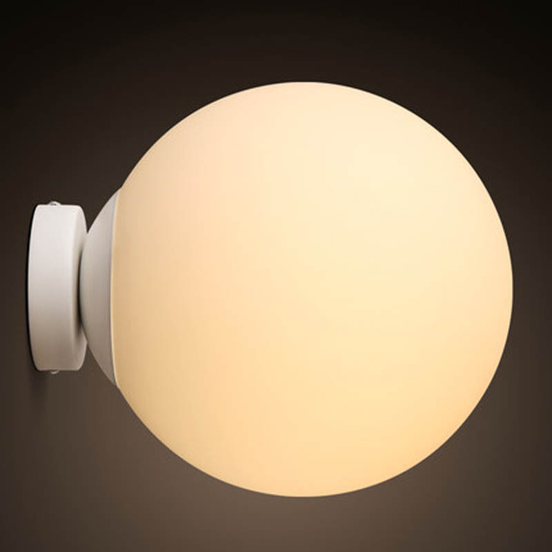 Nordic Modern Brief Personally Loft Vintage Ameican Glass Ball Iron led Wall Sconce Lamp Bathroom Mirror Home Decor Lighting