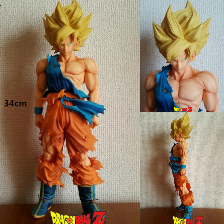 34cm Big Dragon Ball Z Super Master Stars Piece MSP Super Saiyan Son Goku black Vegeta PVC Action Figure Collectible Model Toy shfiguarts dragon ball z vegeta pvc action figure collectible model toy 6 5 16cm