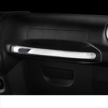 lsrtw2017 car dashboard co-pilot armrest trims chrome for jeeep wrangler 2011 2012 2013 2014 2015 2016 2017