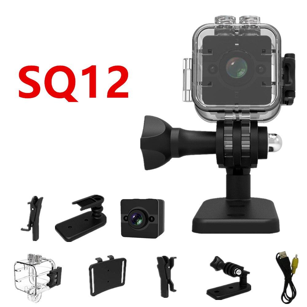 SQ12 HD 1080P Mini Camera Night Vision mini video camera Sport DV Voice Video Recorder Action Waterproof Camera PK SQ11 mini cam