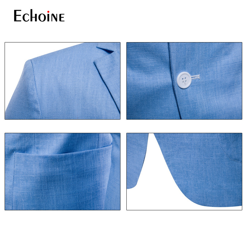Image 5 - Fashion Cotton linen summer men comfort blazer Mens 2019 New Slim Fit Jacket Suits Blazers Men Quality Casual suit plus size 4XL-in Blazers from Men's Clothing