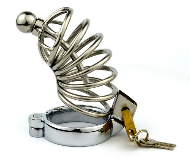 Buy Adult supplies offbeat toys stainless steel male chastity chastity belt lock,male chastity device,cock ring,penis ring,cock cage