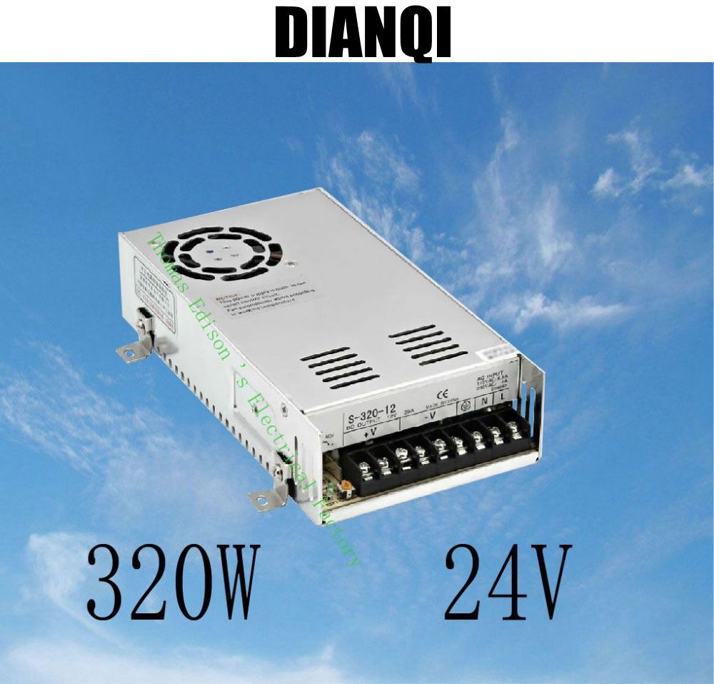 led power supply switch 320W  24v  12.5A ac dc converter  S-320w  24v variable dc voltage regulator S-320-24 your money the missing manual