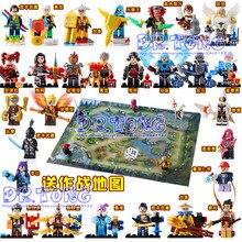 DR. TONG 28 UNIDS Rey de la Gloria Ilumine el Romance de los Tres Reinos de Montar Uno de China Rey Caballero Héroes Bloques de construcción de Juguetes