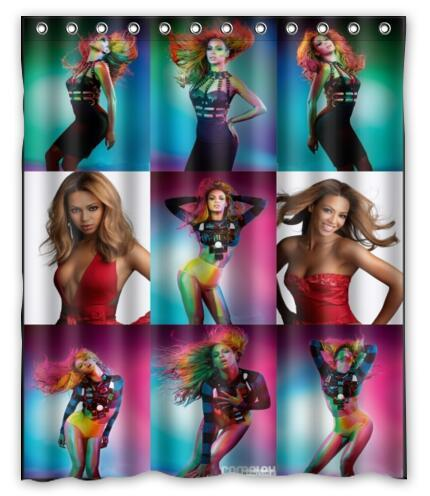 Custom Sexy Beyonce Shower Curtain Polyester Fabric Waterproof Bath Bathroom Home Decor Size 150x180cm L 92