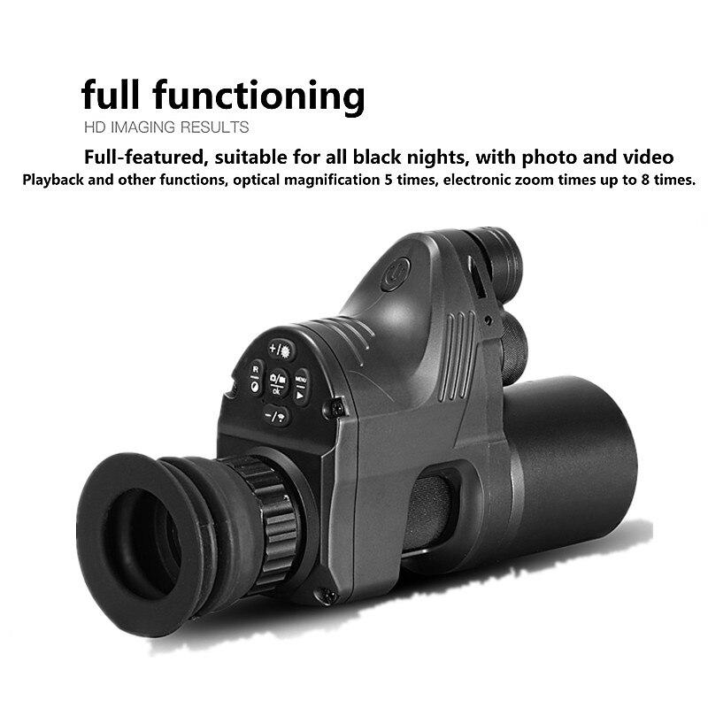 PARD NV007 200 m Visão Noturna Infravermelha do Telescópio Visão Caça Noite Conjunto de Visão Digital IR Rifle scope Monocular dia e noite
