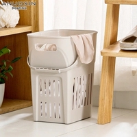 Extra large plastic hamper dirty clothes storage baskets clothing basket bathroom put toy box laundry barrel