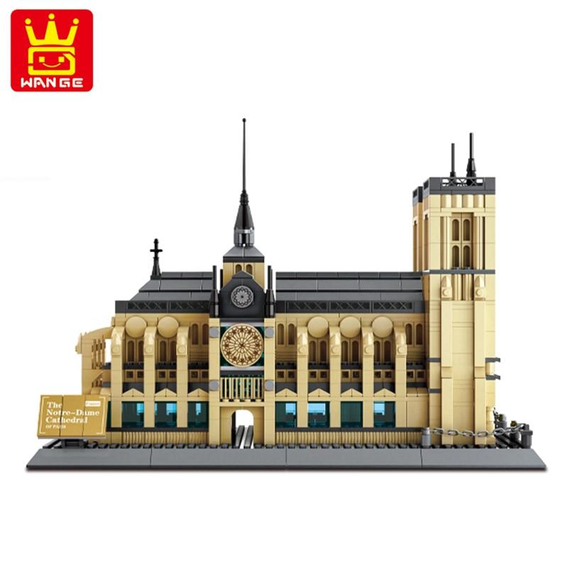 Wange assembler des blocs de construction 5210 notre-dame de Paris Compatible avec l'architecture LGSet City Set modèle diamant blocs briques