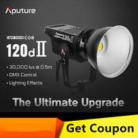 Aputure COB 120D Mark 2 120D II Ultimate Upgrade 30,000 Lux @0.5m Supports DMX 5 CRI96 TLCI97 Pre Programmed Lighting