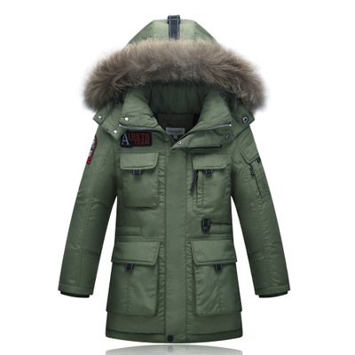 Mioigee High Quality 2017 Children Winter Jackets for Boys Down Jackets Thick Warm Outerwear with Hooded Long Children's Coats 2017 winter down jackets for boys