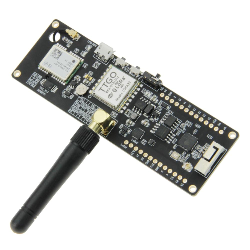 TTGO T-Faisceau ESP32 433/868/915 Mhz Sans Fil Bluetooth WiFi Module ESP 32 GPS NEO-6M SMA LORA 32 18650 Support de Batterie avec SoftRF