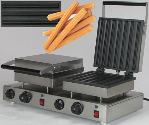 Electric double head spain twisted strips machine spain churros maker machine 12l electric automatic spain churros machine fried bread stick making machines spanish snacks latin fruit maker